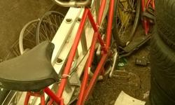 tandem bike for sale i dont have any idea what brand is this but running good lost of interest