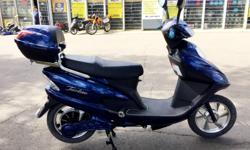 Tao Tao 801 500W Powered E Bikes will carry you up to 35 km/h and for over 40km's on a single charge. Excellent option for those looking to ride without a license, and with zero money spent on gas. Well Equipped with rear storage box, built in alarm