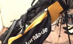 Almost new Taylormade golf bag. Great condition, light and comfortable to carry. Will deliver.