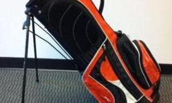 Orange taylormade golfbag. Looks like the bag in the picture but the stand was broken so I have removed it but still in decent shape and definitely does the job. $30 OBO. I work in town Monday, Wednesday and Friday so I can bring it closer to you.