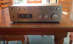 Technics su-8044 vintage stereo reciever. In great condition, power meters work great. Very clean unit. Some static while rotating volume dial under '1' on the dial. Other than that, works good, and looks amazing in my opinion. $60
