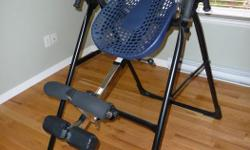 Teeter Hang Ups Ep 550 Inversion Table in perfect condition. One owner, manual included. Better deal than the one presently at Costco.