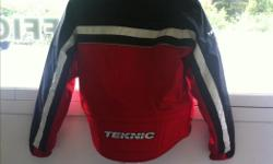 Teknic riding jacket. Only worn a handful of times, still looks brand new. Hard shell back, removable inner liner. Fits like a men's medium/women's medium-large. $100 obo, or willing to trade for any materials we could use in the restoration of our