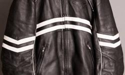 Teknic Leather Motorcycle Riding Jacket. Black Size: Medium. Good condition. Includes liner for colder days.
