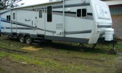 Want to trade 32 ft travel trailer for HOUSEBOAT King size bed Many cupboards in bedroom hide-a-bed in living room 2 slides 2 outside doors air condioning built in TV stereo WINTER PACKAGE