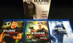 The Bourne Trilogy bluray box set, item #I-46. Price of $18 includes all taxes. Please refer to item #I-46 when inquiring. We also have more items for sale at The Bay Street Broker located on the corner of Bay and Government St. 250-383-SHOP.