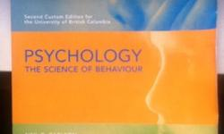 Psychology: The Science of Behaviour by CarlsonSecond Custom Edition for the University of British Columbia