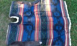 Thick fleece American made saddle blanket, kept stored in house. Check my other listings for more horse gear.