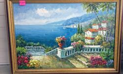 Thomas William Cox retired to Vancouver Island (Parksville area) from Ontario. He passed away in 2015 at the age of 82. This is an original framed painting.