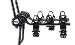 Thule Passage 3 Convenient and easy-to-use hanging-style trunk bike rack (for 3 bikes) brand new, still in box, retails for over $200 including tax. Features Soft rubber cradles protect bike frame while holding it securely. Bike rack arms can fold down