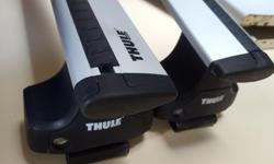 Hi there, I have a Thule roof rack system with the Aeroblade crossbars for sale. They are 1 year old. This roof rack is compatible with all Dodge, Chrysler and Plymouth minivans from 1996-2016, as well as the VW Routan. We used it for our rooftop tent,