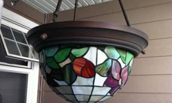Approx 16 inches diameter & hangs approx 30 inches.