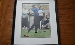 """Tiger Woods Autographed 8x10 Picture (with COA)   $575.00 (serious enquires only)   I am willing to take REASONABLE offers on all items (except marked """"firm"""").   Please see poster's other ads by clicking link on right"""