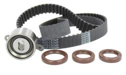 Offered up is a new in the package Timing Component Set as follows : Fits : Acura Integra GS-R 1.8L B18C1 / B18C5 1994 - 2001 Includes : New Timing Belt Tensioner Bearing 2 Camshaft Seals 1 Timing Cover Seal Picture is Accurate This Timing Set Set Retails