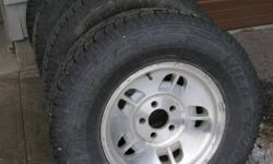 Set of four Wild Country Radial XTX Sport M+S on 5 bolt aluminum wheels from 97 Ford Explorer, 80% tread left