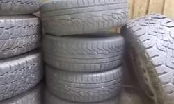 set of 4 205/55/16 tires in decent condition $150 obo located in yellow point.