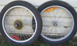 Tires and aluminum rims - 20 X 3 very good condition $100 email or call any time including evening, Sunday or holidays 604 800 2104 (Kelowna)