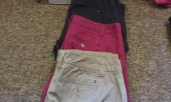 3 pairs of Tommy size 10 pants great shape.