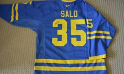 Tommy Salo Autographed Team Sweden Jersey   Authentic Pro Jersey (not a knock off and never worn - compare @ $400 for jersey and cresting only)   I managed Game On Sports in Edmonton and Tommy signed when he visited the store.   $350.00 (serious enquires