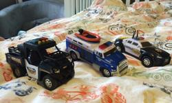 Set of three Tonka rescue vehicles complete with lights and sirens!
