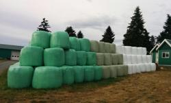 Locally grown haylage. Excellent feed for horses, cows, sheep, goats and llamas. Wrapped round bales. Delivery available.
