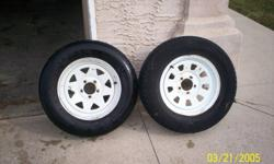 TRAILER TIRES FOR  SALE 205 - 70-15 2 tires with rims $100.00 Please contact Filipe at 204-775-7925