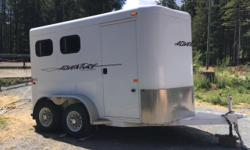 NEW PRICE ... NEED TO SELL ! 2010 IMMACULATE 2 horse trailer, in excellent condition, steel frame, aluminum skinned, double walled, TrailsWest are one of the best trailers out there, good floorboards, tires and rubber mats, all the electrical works great,