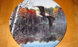Fifth issue in the collection entitled America's Pride. World Center for Birds of Prey. $15 each or $100 for 9 plates