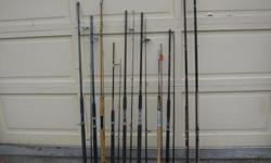 "TROLLING, MOOCHING AND SPINNING SALTWATER FISHING RODS. SALT WATER FISHING RODS $10.00 to $45.00 each. In good to very good condition Its a house number so texting will not work. """"DO NOT"""" CALL BEFORE 8 am. OR AFTER 9:00 pm. CASH ONLY. PICKUP ONLY VIEW"