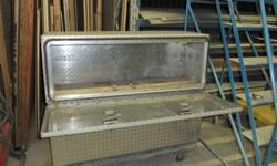 "2- aluminum checker plate truck storage boxes.  Excellent shape and lockable. 18"" x 18"" x 50"".  $300.00 each"