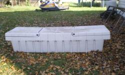 White truck tool box.  Came off a late 90's Chevy Truck.  613-388-2880