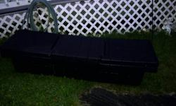 FOR SALE: 1 TOOL BOX BLACK WITH KEYS--WILL FIT ANY FULL SIZE 1/2 TON TRUCK--ASKING $50.00