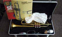 This Conn Director trumpet is a decent student model with a good brass sound. Paid $335 for it. It was serviced shortly before I bought it so the felt is new, and the valves work decently. I realized I just didn't have the time to practice enough to