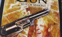 TV SERIES DEAD MAN'S GUN BEST OF SEASON ONE $5 TWO DVD'S - COMPLETE FIRST SEASON DEAD MAN'S GUN 6 DVD'S $15 DIRECTED BY HENRY WRINKLER ( THE FONZ FROM HAPPY DAYS ) THIS OLD WEST SERIES SURROUNDS THE DEAD MAN'S GUN AND HOW IT AFFECTS EACH OWNERS LIFE .