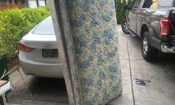 the mattress was hardly used in a spare room..its spotless. I can deliver. 250 208 3174