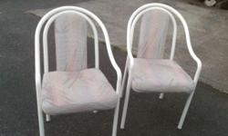 take both for this price Very Clean padded fabric chairs .. very strong built great... as new condition Need gone soon... fund raiser item. for .My Pet rescue.... for food text line only