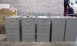 "TWO DRAWER FILING CABINET WITH KEYS,  LETTER SIZED,  WIDTH=15""   DEPTH=25""   HEIGHT=30 4PCS. AVAILABLE  AT $35.00 EACH. 604-7652865"