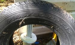 I have 2 of the above tires for sale. Bought them brand new a couple of years ago and never used them. They were for a 89 Chevy Sprint and are in excellent condition. I know these tires are hard to find these days.