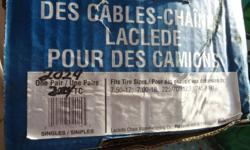 Heavy Duty Cable chains for 2003 One Ton FORD TRUCK.In new condition, used only once for 10 miles of travel... Will sell as single set. Fits tires sizes 7.50-17,   700-18,   225 17 or17.5,  245  70R17