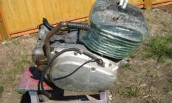 1978 Yamaha ty250 motor serial number 493-300188 turns over good lots of compression block and side covers good no cracks or chunks missing kick start works good barrel wraped in plastic to keep moisture out
