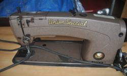 write for details. I am selling a recently serviced Union Special - Industrial Sewing machine.  I will entertain reasonable offers as i would like to have it at it's next home.