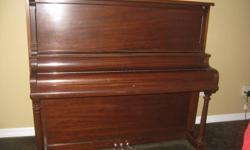 I was given an upright piano and need to make room for a renovation. You move it you get it! It took 4 guys to get it in, there are 5 stairs to get it down out the front door. Solid wood, beautiful piece of furniture, great to learn on, needs tuning.