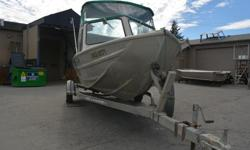 We have available a used 18 foot V-bottom runabout model comes with a 2007 90hp 4 stroke Evinrude with only 100 hours accompanied by a 4hp Mercury tiller. This was one of the original EagleCraft built by Steve Daigle himself as a favour to a neighbour; it