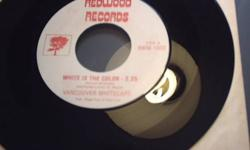 """Vancouver Whitecaps 45 record with """"White is the colour"""", and """"Looking high"""" on the B side. Great condition but jacket has become a little unglued and is not as nice as record. Please leave a phone #"""
