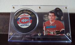 """Card and Puck Holders (all w/Official Game Pucks):   Maurice Richard (Autographed w/coa) - $200.00 (firm)   Ray Bourque w/75th Anniversary Puck - $30.00   Bobbleheads:   Henry """"Gizmo"""" Williams (Wall of Honour Induction - 2002)- SOLD   Barry Bonds - $5.00"""