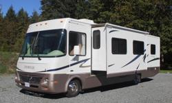 This RV has been very well maintained. With 2 slides, it has a large bright interior, and comes with the following equipment and accessories: GM 8.1 liter Vortec engine (340 hp) 2 large slides 4 automatic leveling jacks with dash touchpad controller a