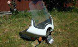This was pulled from a 1978 Honda CX500. The windshield has no cracks, the paint is in decent shape, and it comes with a correct-size headlight and turn signals. It also has 2 covered map pockets. $30 or best offer, cash only. Please call, text, or email