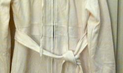 "Victoria's Secret catalogue long hoodie   Size Medium   Ties at waist, soft and fleecy inside.   60% cottton/ polyester   Bust = 37""   Waist = 34""   Brand New! Never worn"