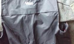 """Size M, 40"""" across waist and down the long pant legs that are zippered and Velcroed. Also snaps at top and bottom. New, never used. Can deliver."""