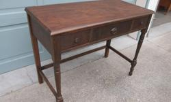 """Versatile 3 drawer table that could be used as a desk, entrance, or side table. Good condition with a bit of surface wear. Measures 37 1/2"""" X 19"""" X 31"""" tall. Call or text, and if you email please leave name and phone number."""